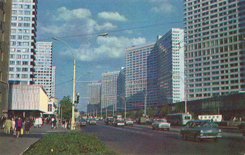 Проспект Калиниа, Москва, 1978 год