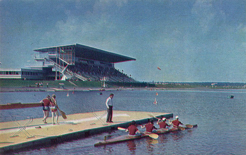 Rowing canal, Moscow, 1978