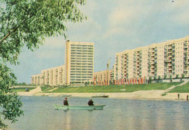 Жилмассив Русановка, Киев, 1970 год