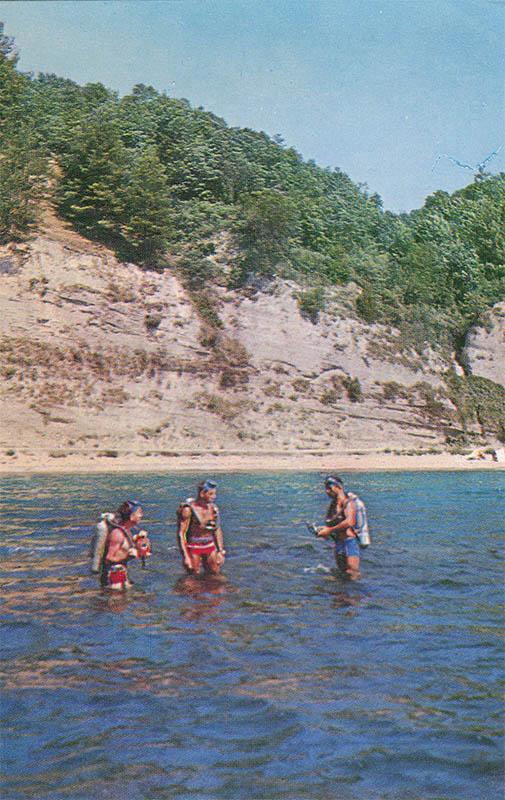 Подводное плавание, Пицунда, 1970 год