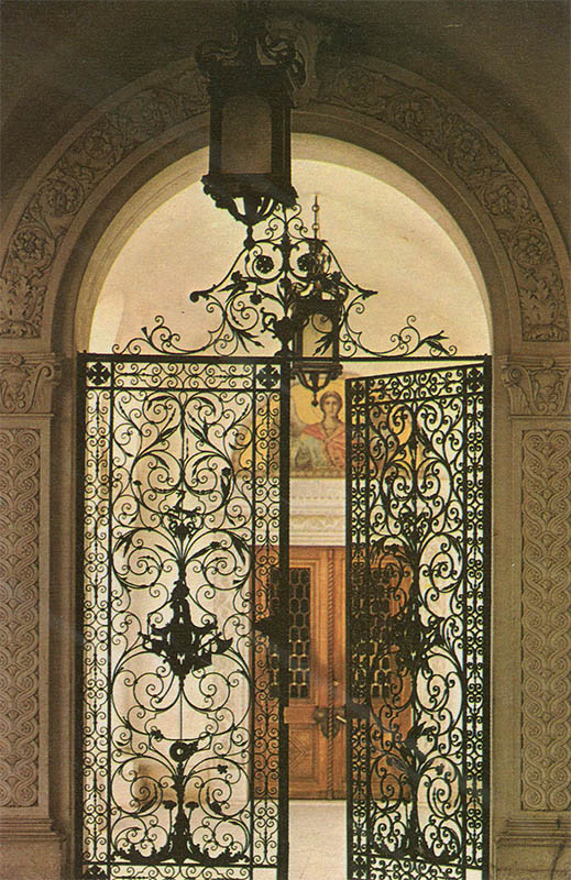 The gate of the Italian courtyard in the Livadia Far, 1976