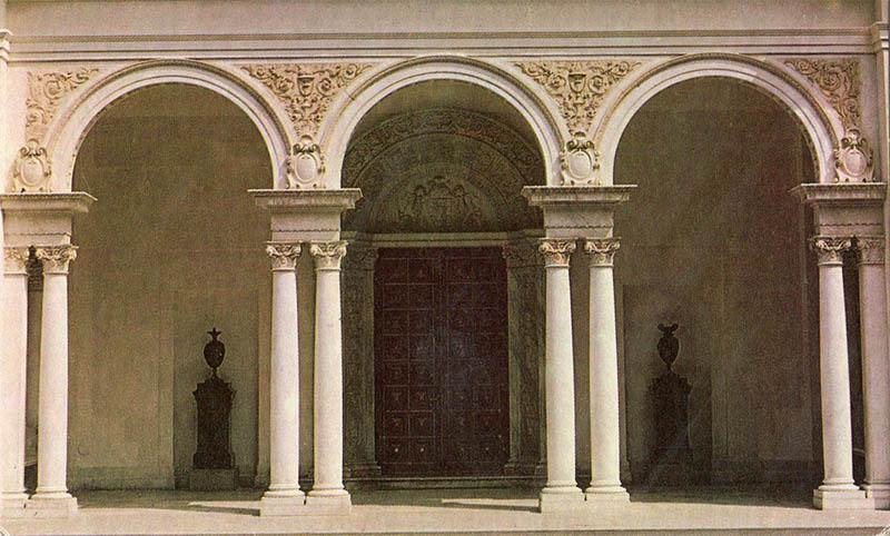 Главный вход Ливадийского дворца, 1976 год