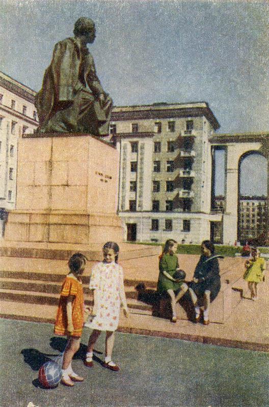 Памятник Н.Г. Чернышевскому, Ленинград, 1951