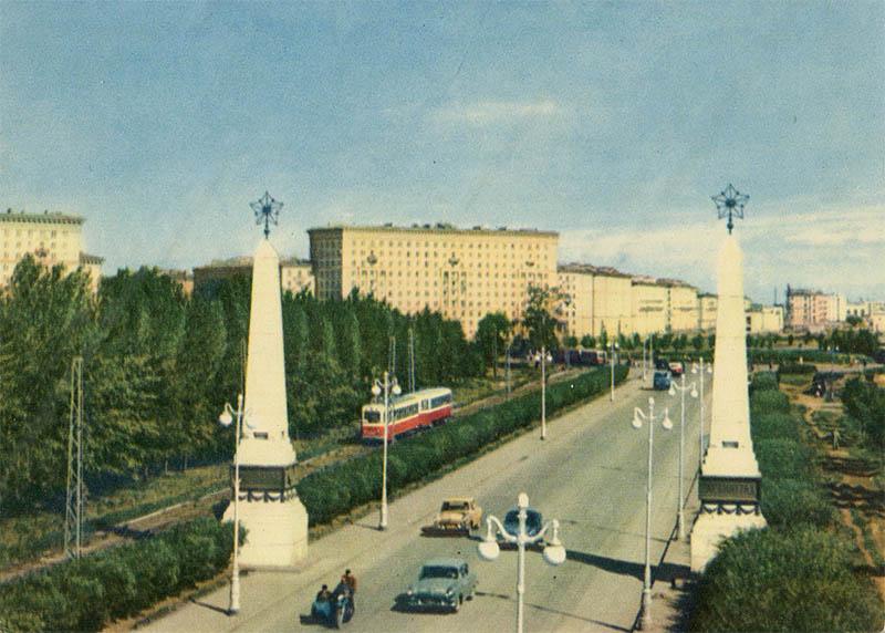 Въезд в город со стороны Автово, Ленинград, 1964