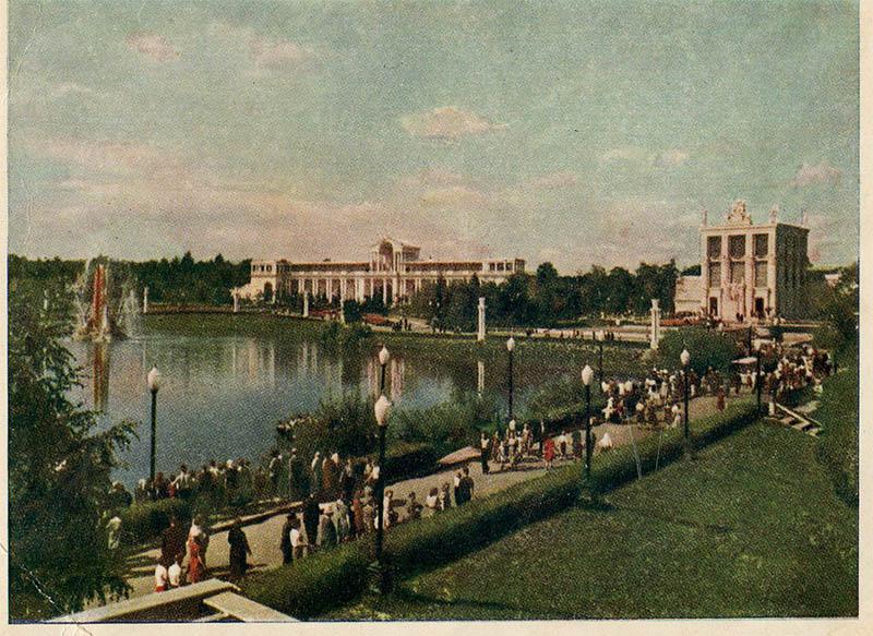 Запрудная часть, ВДНХ, Москва, 1955