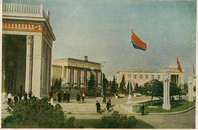 Pavilions of the Estonian, Latvian and Lithuanian SSR, VDNH, Moscow, 1955
