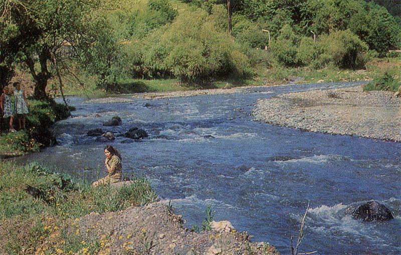 На берегу реки Агстев Дилижан, 1976