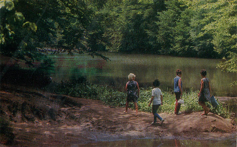 На озере Парзлич Дилижан, 1976
